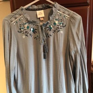 NWT Knox Rose long sleeve women's shirt